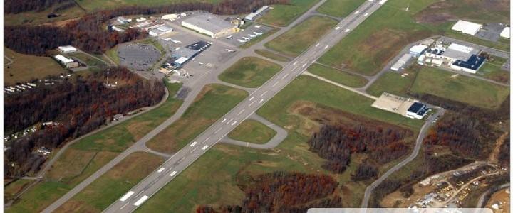 aerial view of CKB airport