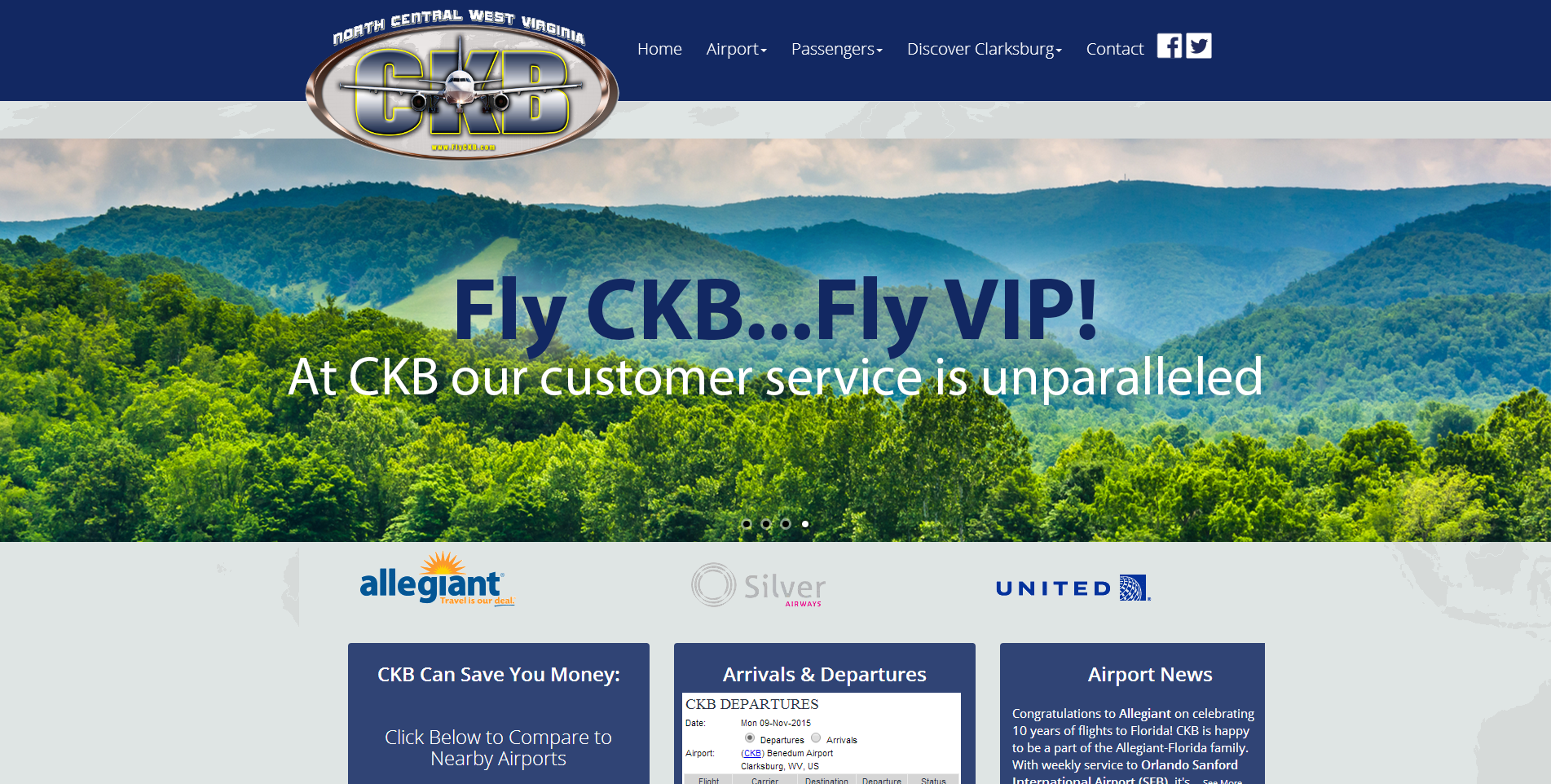 North Central West Virginia Airport Unveils New Website